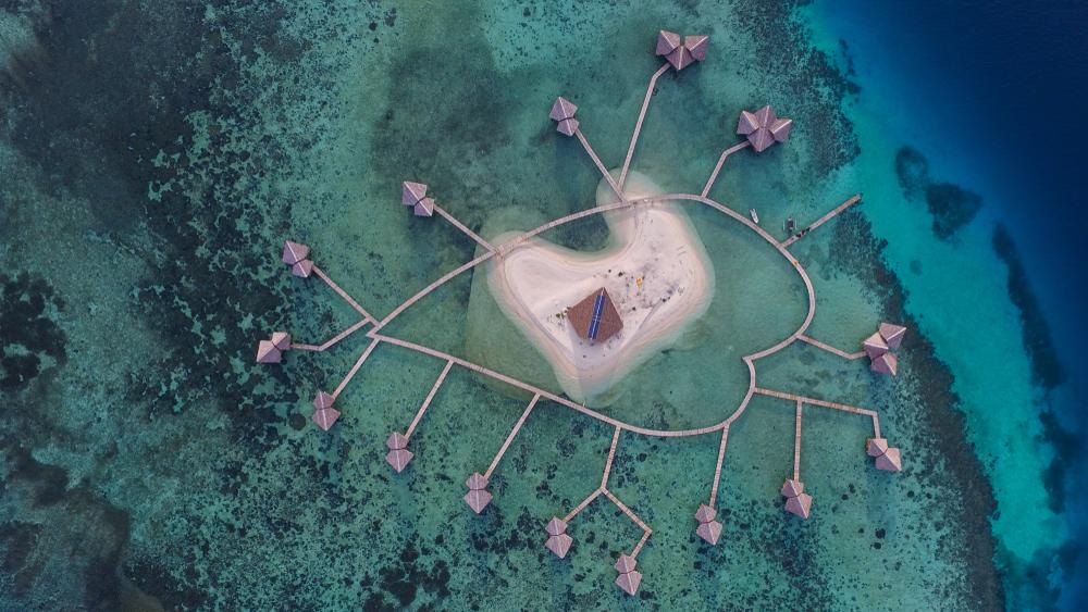 Indonesia rasa Maldives di Pulo Cinta, Gorontalo.