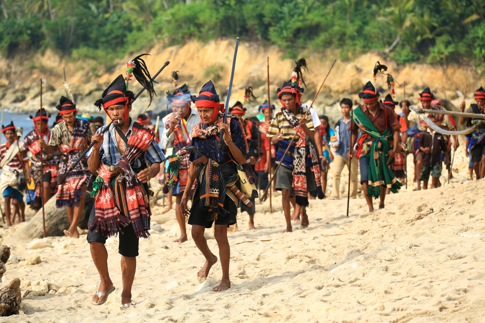 Suasana Festival Bau Nyale Lombok