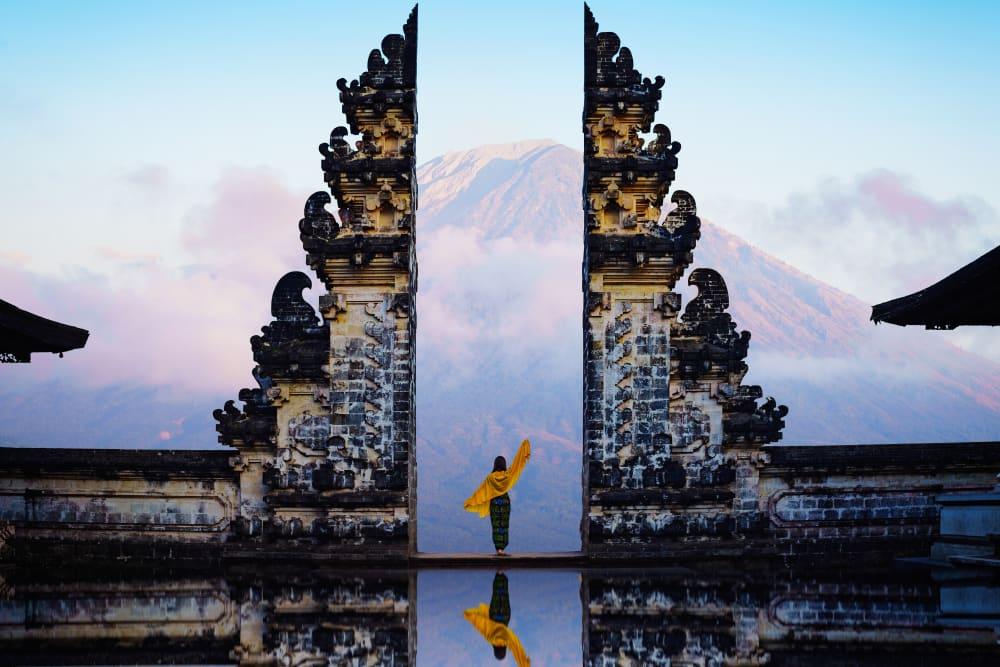 Spot foto ikonik di Pura Lempuyang.