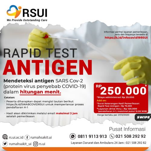 Rapid Test Antigan dan PCR Test murah di Jakarta