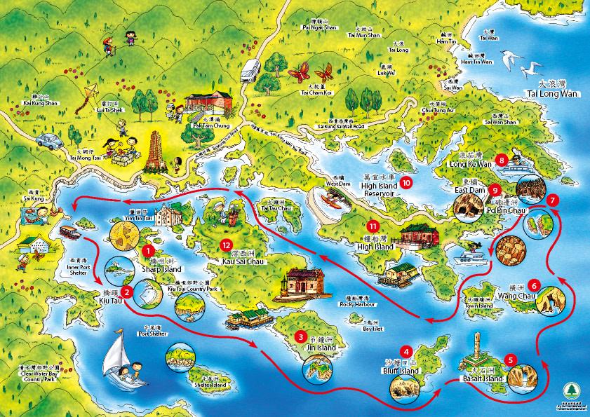 Peta Wisata Sai Kung Hong Kong