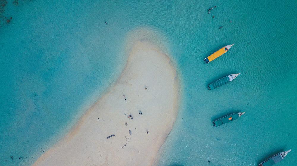 Foto udara Pulau Kalimantung