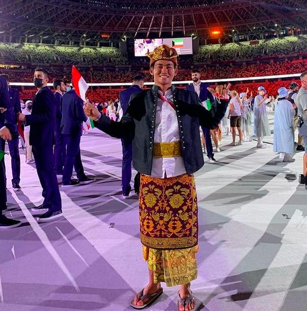 Rio Waida, pembawa bendera Indonesia ternyata berdarah Jepang